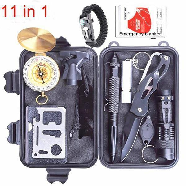 Emergency Survival Kit Multi Professional Tools Outdoor Gear Kit