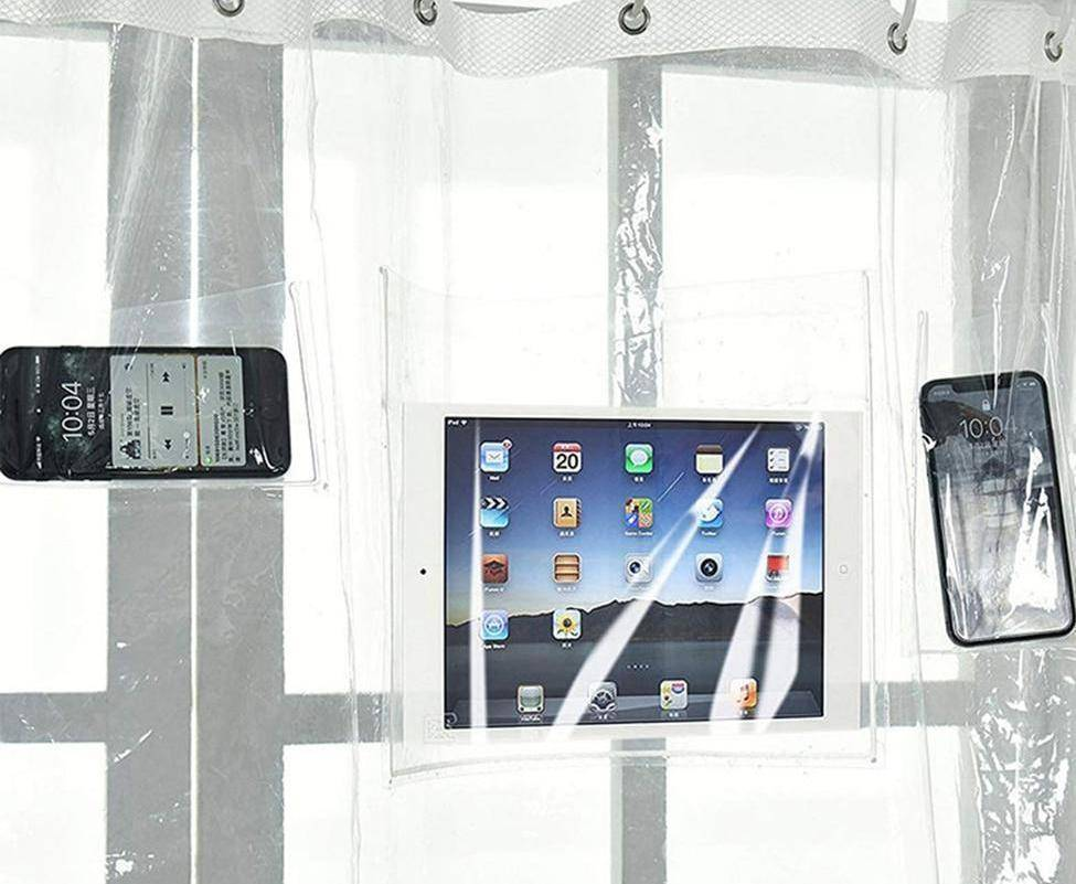 Clear Phone & Tablet Shower Curtain Holder