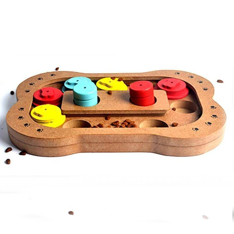 Educational Wooden Paw Puzzle Dog Toy