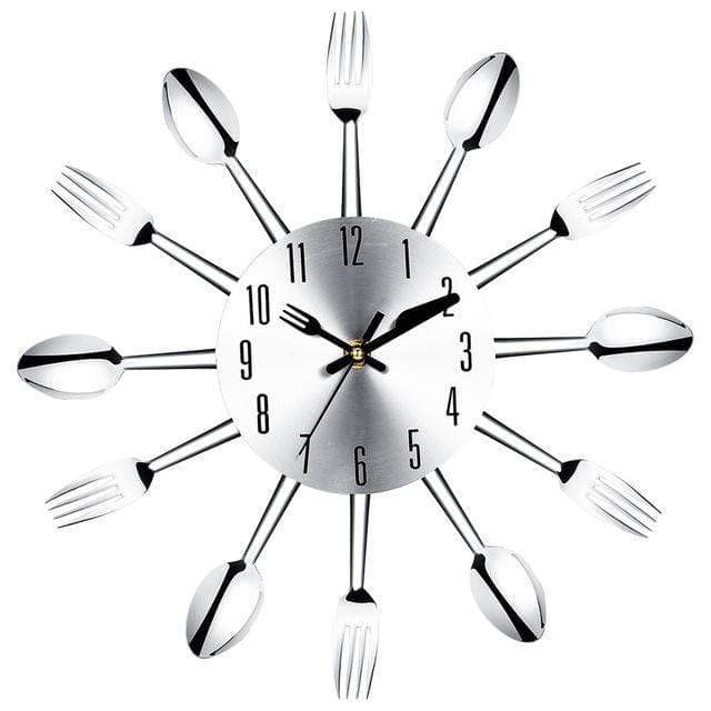 Spoon and Fork Modern Wall Clock