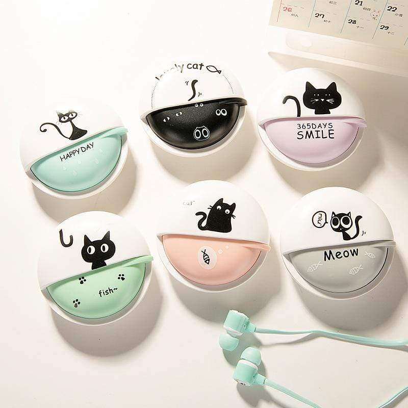 Cute Cat Kids Earphones with Mic