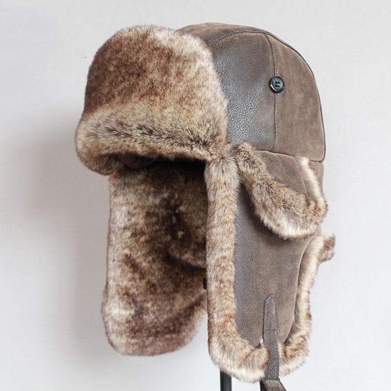 Fur Trapper Hat with Earflap
