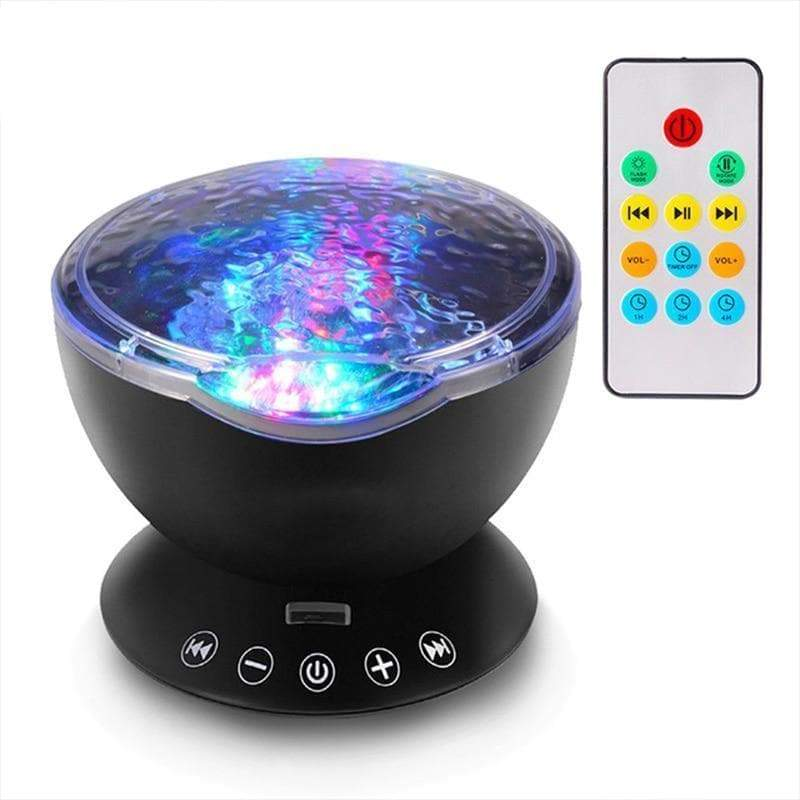 Colorful LED Night Light Projector with Music