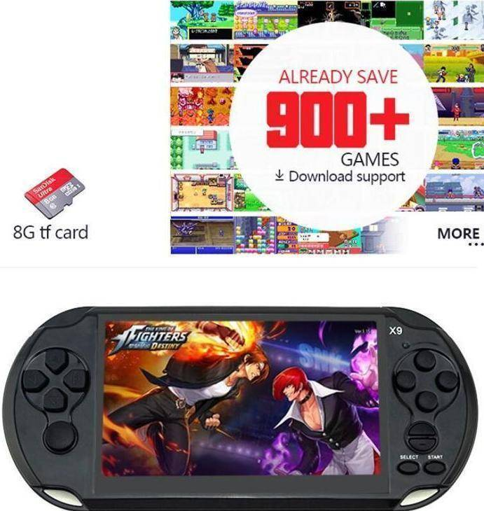 900 Classic Games Portable Gaming Console