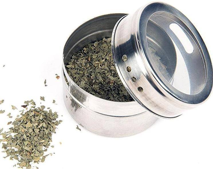 Stainless Steel Magnetic Spice Jars