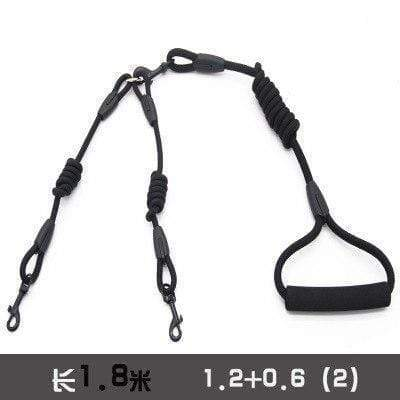Round Rope Double Dogs Leash