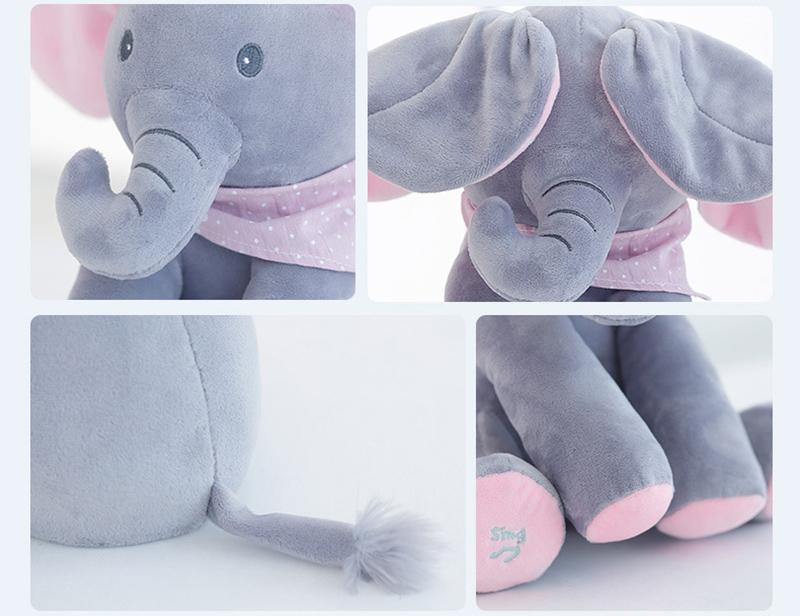 Peek a Boo Musical Elephant Toy