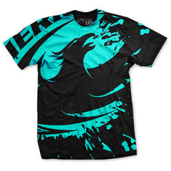 Rugby Blast Teal T-Shirt