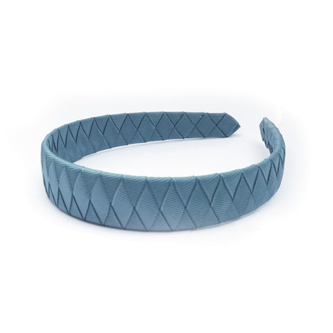 Large Antique Blue Braided Alice Band
