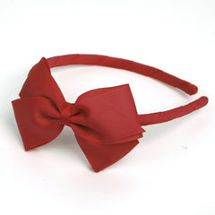 Large Poppy Red Alice Band