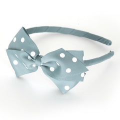 Large Nile Blue Polka Dot Alice Band