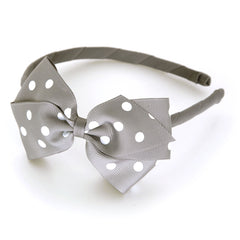 Large Silver Polka Dot Alice Band