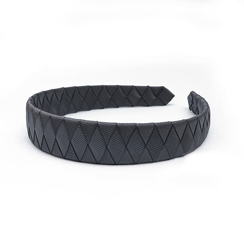 Large Charcoal Braided Alice Band
