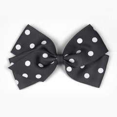 Large Charcoal Polka Dot Hair Clip