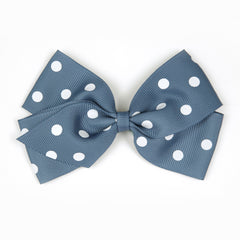 Large Antique Blue Polka Dot Hair Clip