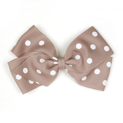 Large Antique Mauve Polka Dot Hair Clip