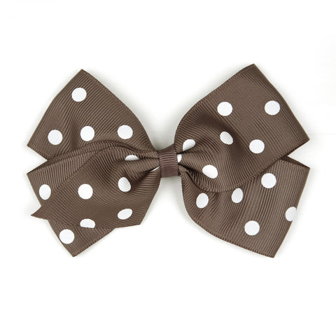 Large Chocolate Chip Polka Dot Hair Clip