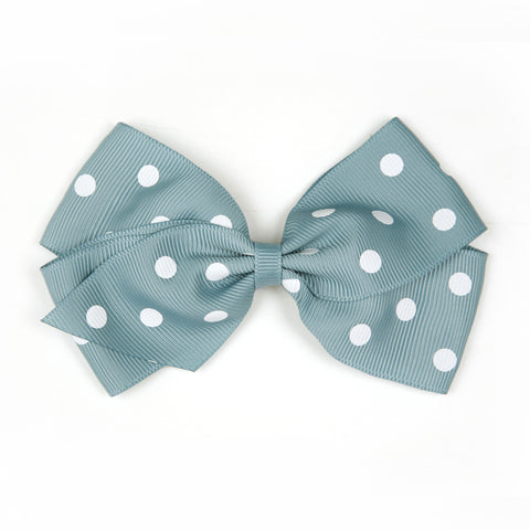 Large Nile Blue Polka Dot Hair Clip