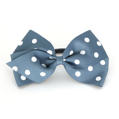 Large Antique Blue Polka Dot Hair Elactic