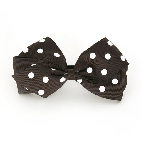 Large Licorice Polka Dot Hair Elactic