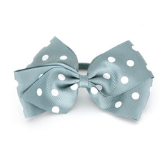 Large Nile Blue Polka Dot Hair Elactic