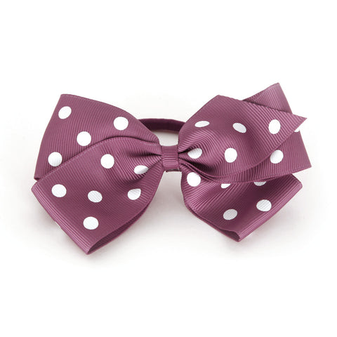 Large Victorian Rose Polka Dot Hair Elactic
