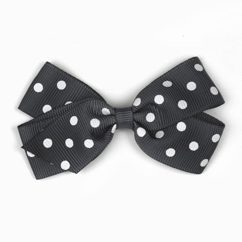 Charcoal Polka Dot Hair Clip