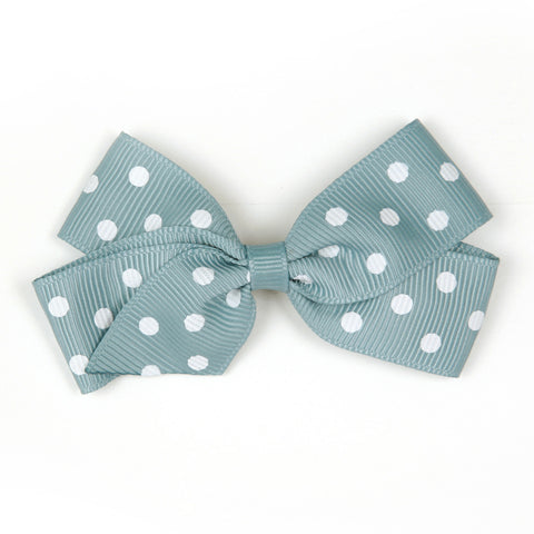 Medium Nile Blue Polka Dot Hair Clip