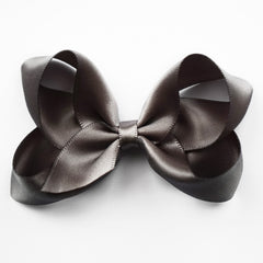 Medium Charcoal Satin Hair Clip