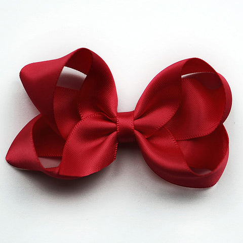 Medium Ruby Satin Hair Clip