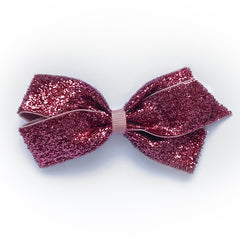Medium Antique Mauve Glitter Hair Clip