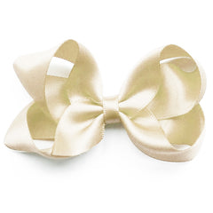 Medium Antique White Satin Hair Clip