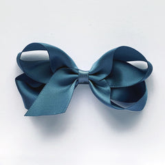 Medium Antique Blue Satin Hair Clip