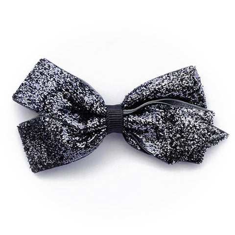 Medium Charcoal Glitter Hair Clip