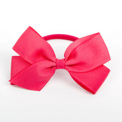 Medium Shocking Pink Hair Elastic