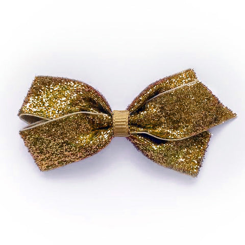 Medium Gold Glitter Hair Clip