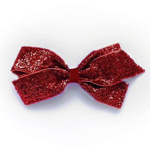 Medium Scarlet Glitter Hair Clip