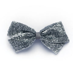 Medium Silver Glitter Hair Clip