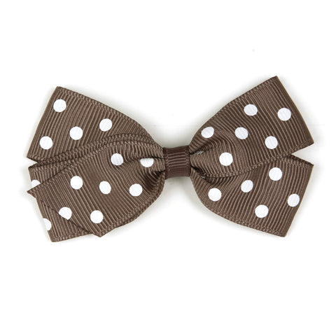 Medium Chocolate Chip Polka Dot Hair Clip