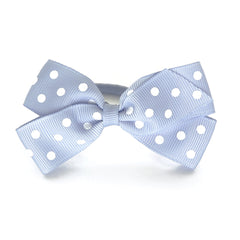 Medium Bluebell Polka Dot Hair Elastic