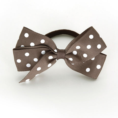 Medium Chocolate Chip Polka Dot Hair Elastic