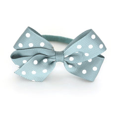 Medium Nile Blue Polka Dot Hair Elastic