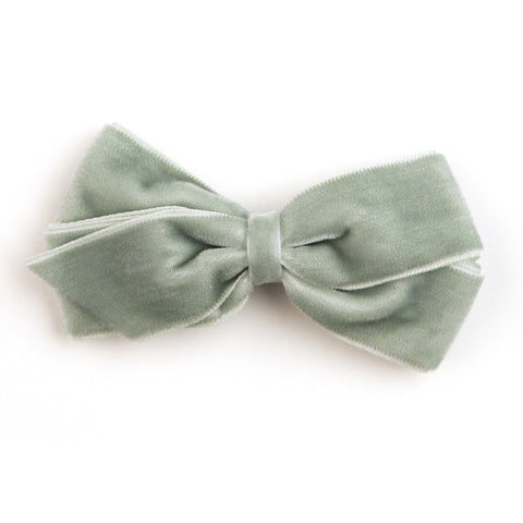 Medium Celadon Velvet Hair Clip