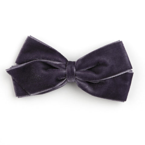 Medium Charcoal Velvet Hair Clip