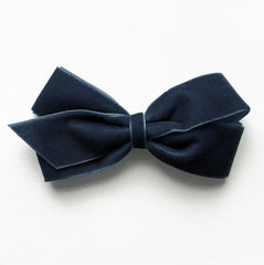 Medium Ensign Blue Velvet Hair Clip