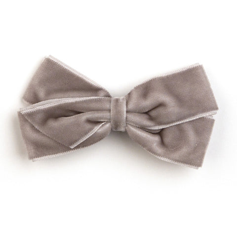 Medium Metal Grey Velvet Hair Clip
