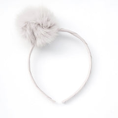 Large Off White Pom Pom Alice Band