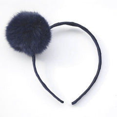 Large Peacoat Pom Pom Alice Band