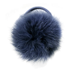 Large Peacoat Pom Pom Hair Elastic