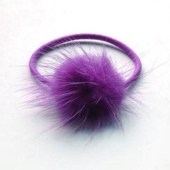 Regal Purple Pom Pom Elastic